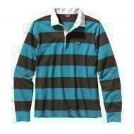 Patagonia Mens LS Sender Rugby Shirt tobago-blue XL tobago-blue | XL