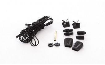 Schnürsenkel Quick-Lace (Schnellverschluss) black black ...