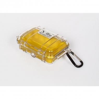 Peli MicroCase 1010 klar / gelb