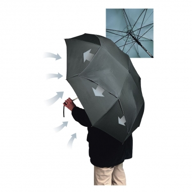 Regenschirm WindPro Automatic XL schwarz, 106 cm