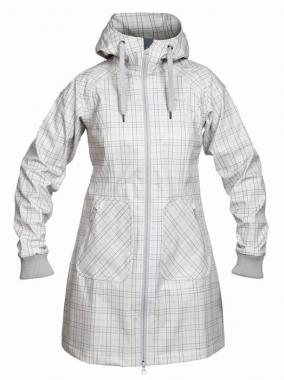 Bergans Vika Lady Coat - alu-soliddarkgreycheck / M