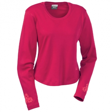Jack Wolfskin Paw Longsleeve Women - indian-red / L