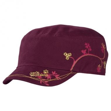 Jack Wolfskin Floral Cap Women - dark-berry / S