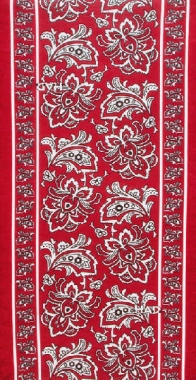 HAD Tuch Paisley Flower wine red