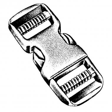 NM Steckschließe dual 25 mm