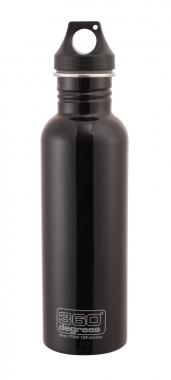 360° Degrees Trinkflaschen Edelstahl black 550 ml