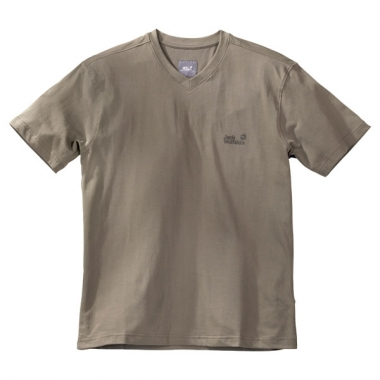 Jack Wolfskin Paw V-Neck T Shirt Men - dusky-green / S