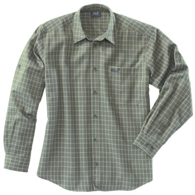 Jack Wolfskin CANYON SHIRT Men - solidgreen-checks / ...