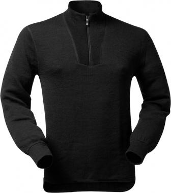 WoolPower Unterhemd Polo Unisex langarm - schwarz / XS