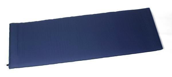 Selbstaufblasende Isomatte 'Breit' dunkelblau, 198x66x3,8 cm
