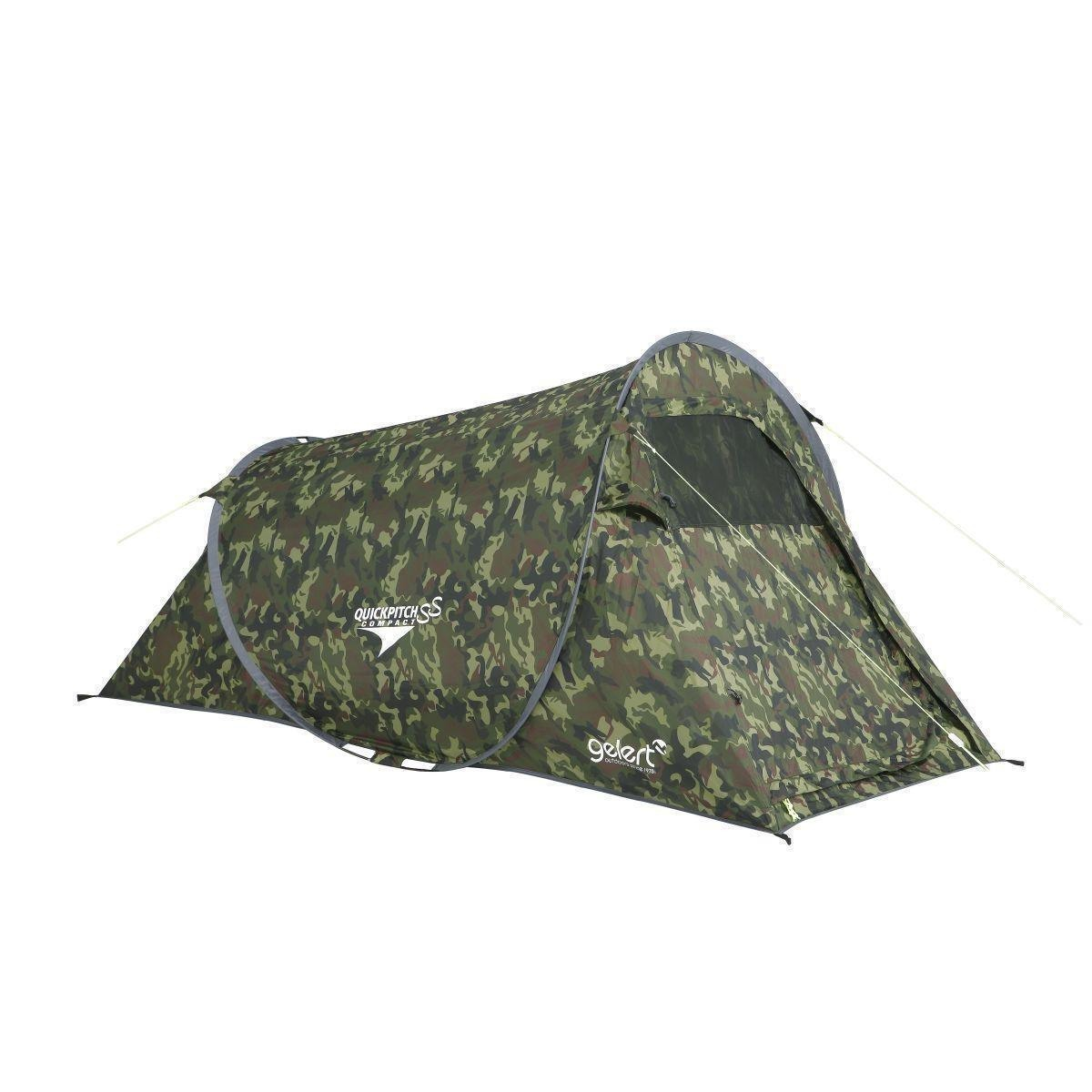 Zelt Camouflage Test : Gelert zelt quick pitch compact army camo bei outdoor