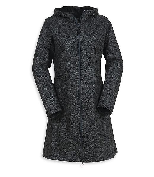 TATONKA FLEECEMANTEL FLEECE Jacke lang, No Wind Coat, Damen